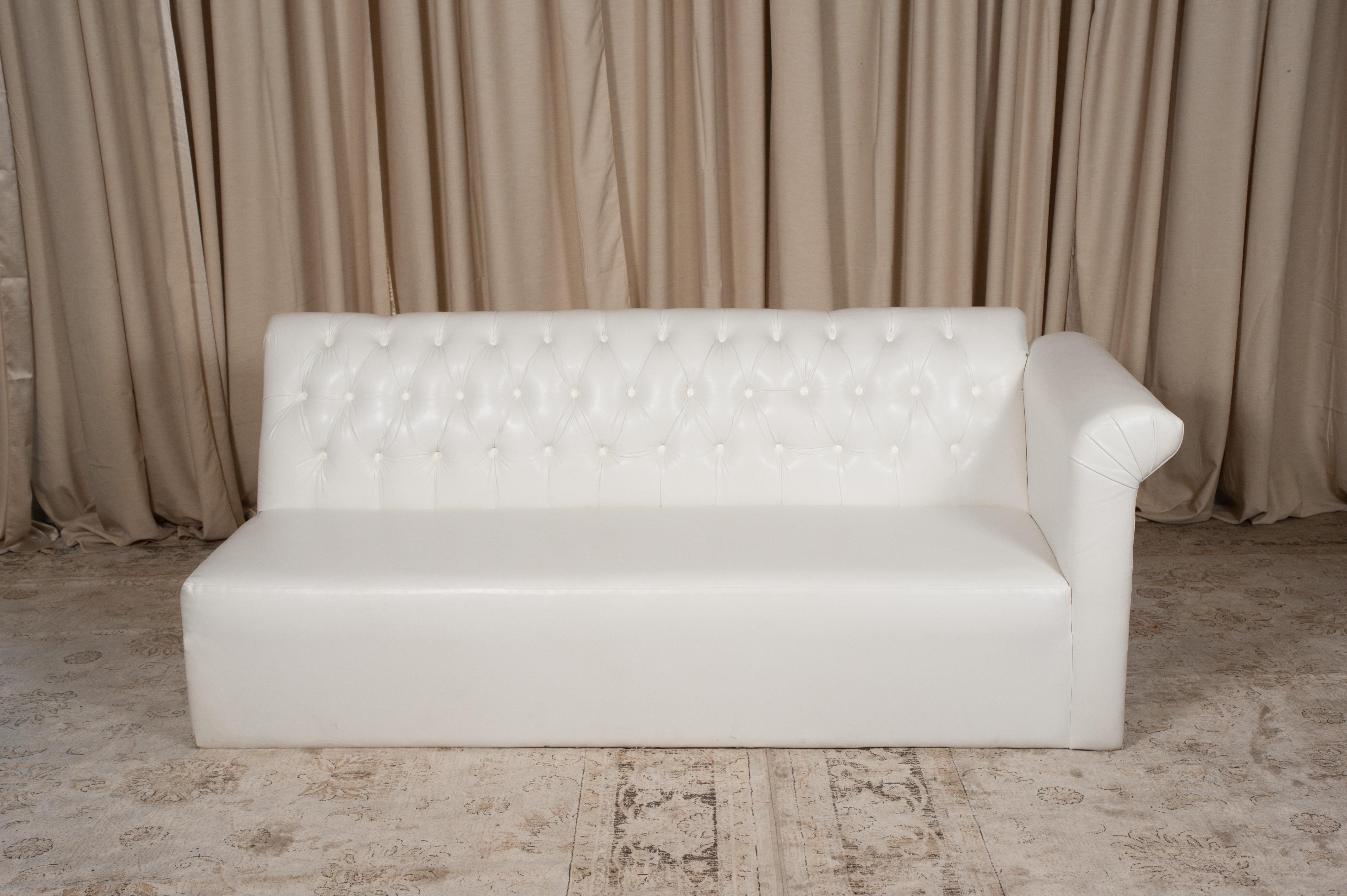 White One Arm Sofa